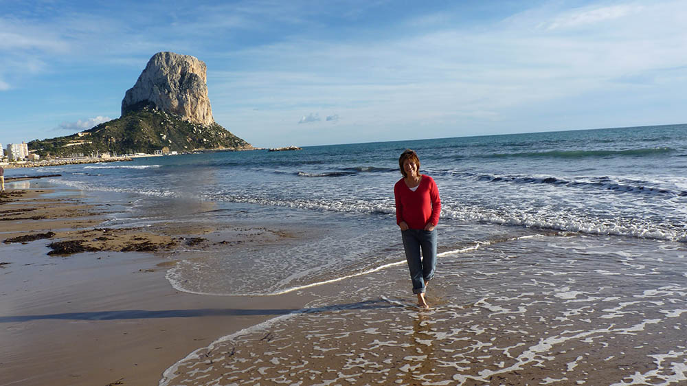 Celebrant walking on spanish beach